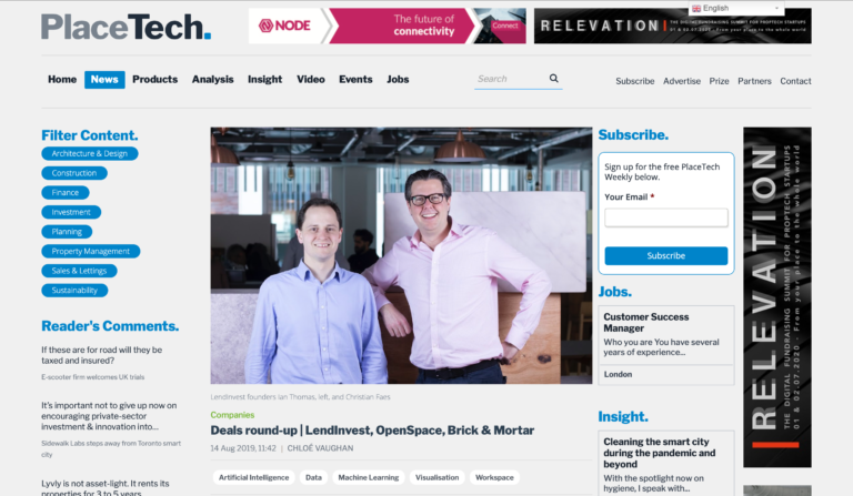 Placetech media highlights