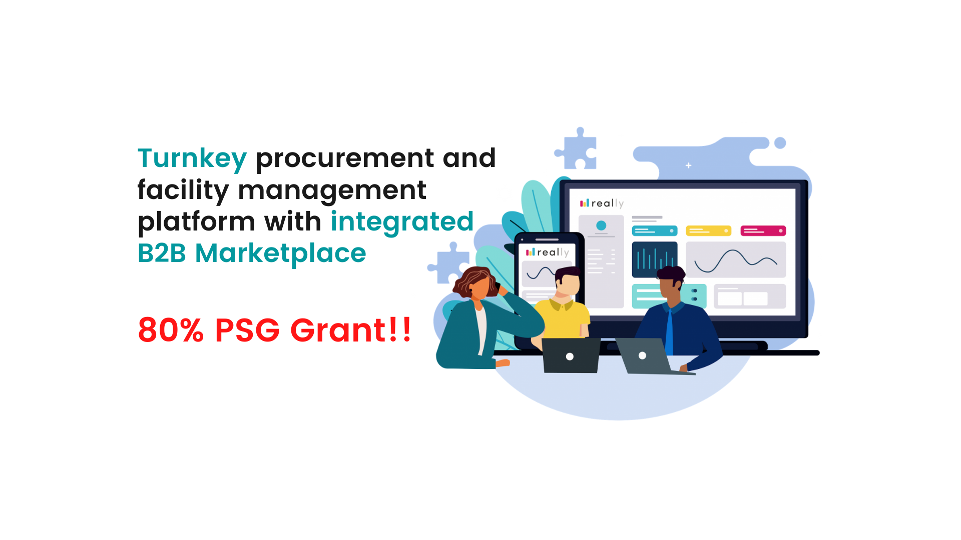 Get up to 80% subsidy for Really's cloud-based solution through IMDA's Productivity Solutions Grant (PSG)